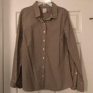 J.Crew Perfect Shirt in Mini Gingham